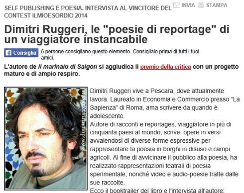 Articolo proclamazione sito miolibro_Premio Festival poesia di Genova