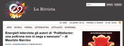 Intervista Politixfactor