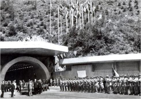 Foto Storica Palazzo Chigi_Inaugurazione Traforo Monte Bianco
